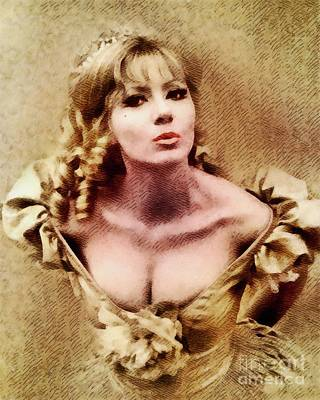 Hammer Painting - Ingrid Pitt, Vintage Actress by John Springfield