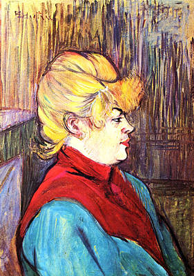 Prostitution Painting - Inhabitant Of A Brothel by Toulouse Lautrec