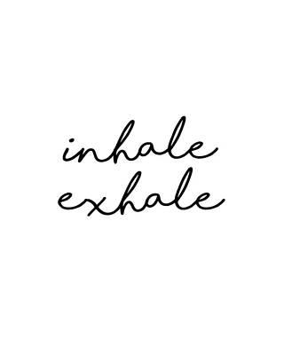 Mixed Media Royalty Free Images - Inhale Exhale - Minimalist Print Royalty-Free Image by Studio Grafiikka