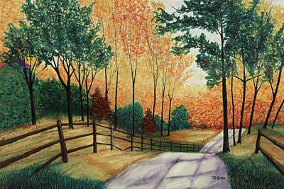 Pastel - Inhaling Color by George Burr