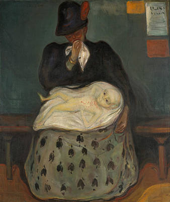 Painting - Inheritance by Edvard Munch
