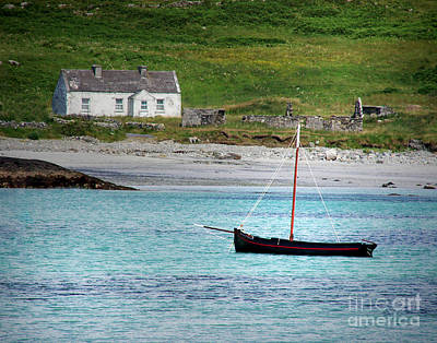 Connemara Digital Art - Inishbofin Boat by Vicki Lea Eggen