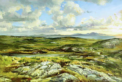 Sea Scape Painting - Inishowen Penninsula by Conor McGuire