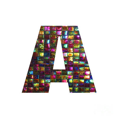 Painting - Initial Identity  A Aa Aaa Alpha Alphabet Decorations Signature At By Navinjoshi From Canada At Fine by Navin Joshi
