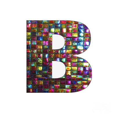 Painting - Initial Identity  B Bb Bbb Alpha Alphabet Decorations Signature At By Navinjoshi From Canada At Fine by Navin Joshi