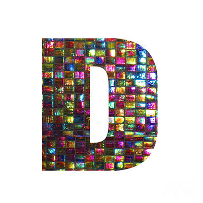 Painting - Initial Identity  D Dd Ddd Alpha Alphabet Decorations Signature At By Navinjoshi From Canada At Fine by Navin Joshi