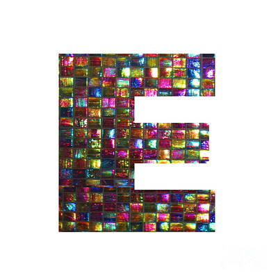 Painting - Initial Identity E Ee Eee Alpha Alphabet Decorations Signature At By Navinjoshi From Canada At Fine by Navin Joshi