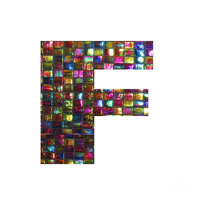 Painting - Initial Identity F Ff Fff Alpha Alphabet Decorations   by Navin Joshi