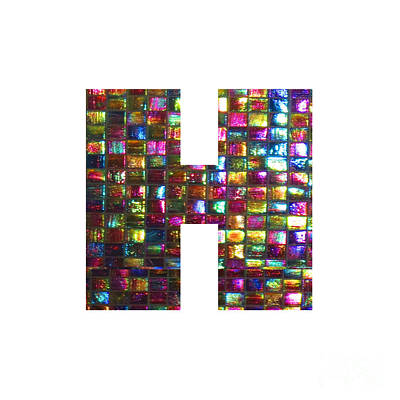 Painting - Initial Identity H Hh Hhh Alpha Alphabet Decorations Signature At By Navinjoshi From Canada At Fine by Navin Joshi