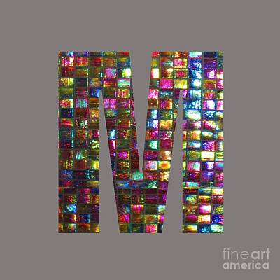Painting - Initial Identity M Mm Mmm Alpha Alphabet Decorations Signature At By Navinjoshi From Canada At Fine by Navin Joshi