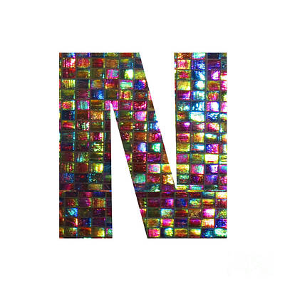 Painting - Initial Identity N Nn Nnn Alpha Alphabet Decorations Signature At By Navinjoshi From Canada At Fine by Navin Joshi