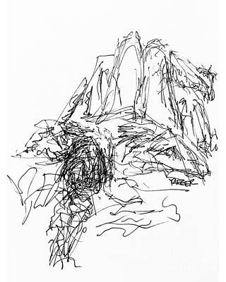 Daydreams Art Drawing - Initial Sketch For Daydreaming 2492 by Robert Yaeger