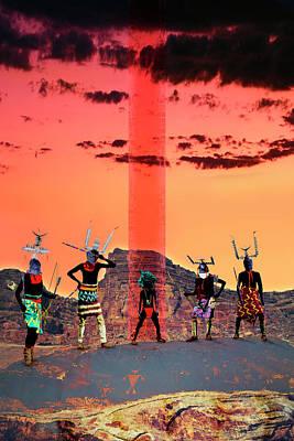 Gaia Digital Art - Initiation by Mark Myers