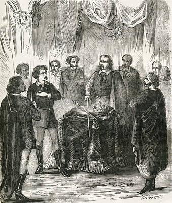 Initiation Of An Illuminatus. From Art Print