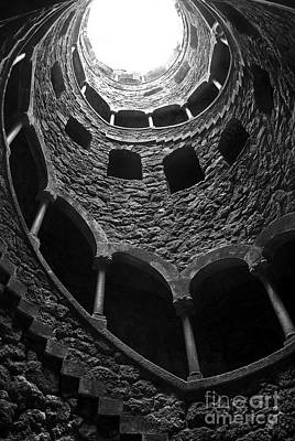 Spiral Staircase Photograph - Initiation Well by Carlos Caetano