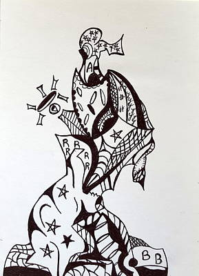 Drawing - Ink 4 by Steven Stutz