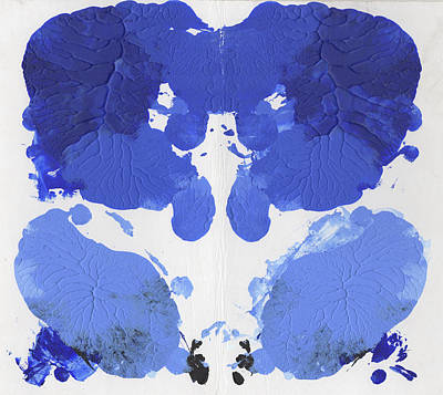 35mm Painting - Ink Blot Blue by Erik Paul