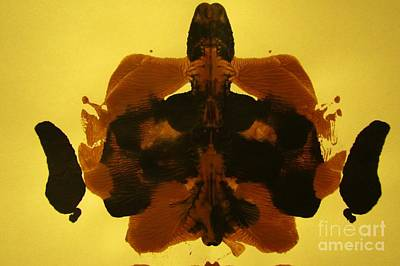 In Earth Tones Painting - Ink Blot In Paint by John Malone