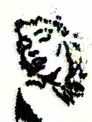 Ink Blot Monroe Art Print by Arianna Trombley