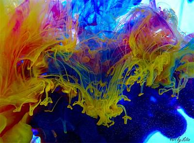 Photograph - Ink Explosion 9 by Lilia D