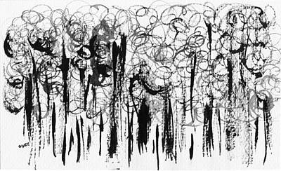 Painting - Ink Forest by Oiyee At Oystudio