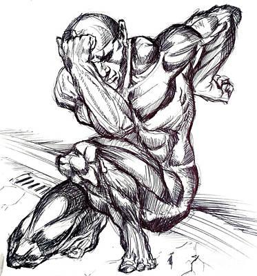 Drawing - Ink by John Jr Gholson