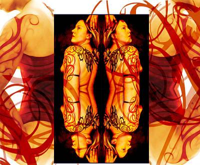 Ink Sisters 8 Art Print by Erika Brown