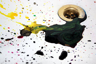 Photograph - Ink Splash by Balanced Art