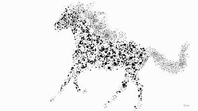 Art Print featuring the drawing Ink Splattered Stallion by Nick Gustafson