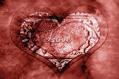 Photograph - Ink Stamp Heart by Sharon Popek