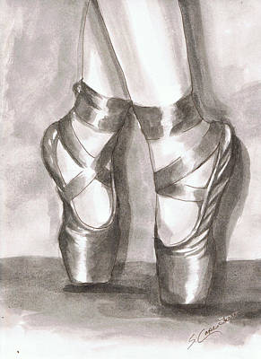 Painting - Ink Wash En Pointe by Sarah Farren