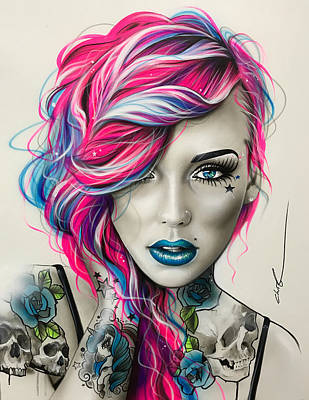 Painting - Inked Neon by Christian Chapman Art