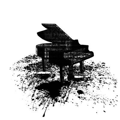Digital Art - Inked Piano by Barbara St Jean