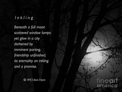 Photograph - Inkling by Ann Horn