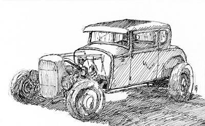 Drawing - Inktober 2017 No 4 by David King