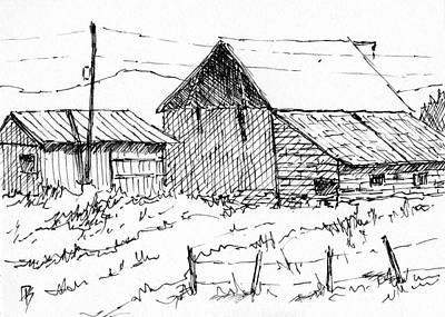 Country And Western Drawing - Inktober 2017 No 9 by David King