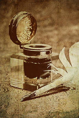 Old Glass Photograph - Inkwell V by Tom Mc Nemar