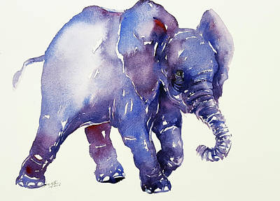 Painting - Inky Blue Elephant by Arti Chauhan