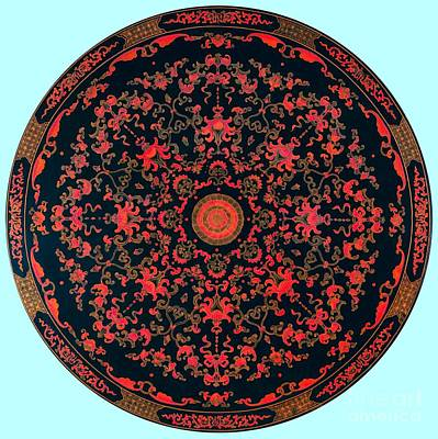 Digital Art - Inlaid Qing Dynasty Chinese Mandala 18th Century by Peter Ogden