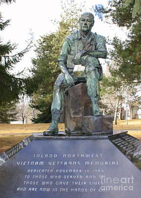 Inland Northwest Vietnam Veterans Memorial Art Print by Carol Groenen