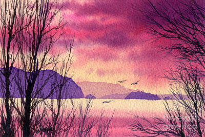 Art Print featuring the painting Inland Sea Islands by James Williamson
