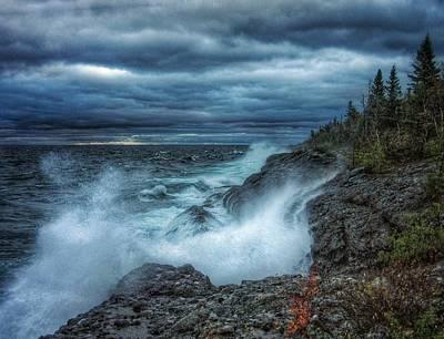 Wash Tubs Photograph - Inland Sea Thunder by Scott Wendt Tom Wierciak