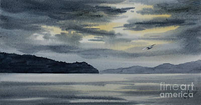 Painting - Inland Sea Winter Sky by James Williamson