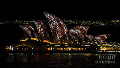 Photograph - Inlay Sails - Sydney Vivid Festival by Bryan Freeman