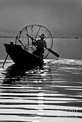 Photograph - Inle Lake Fisherman - Burma by Craig Lovell