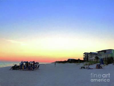 A Summer Evening Photograph - Inlet Beach Florida by Vizual Studio