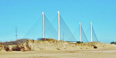 Photograph - Inlet Bridge Beach View by William Bartholomew