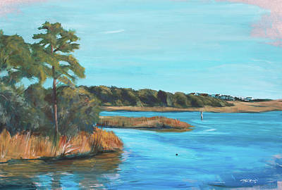 Phthalo Blue Painting - Inlet In Phthalo by Christopher Reid