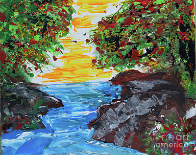 Painting - Inlet With Sun by Alys Caviness-Gober