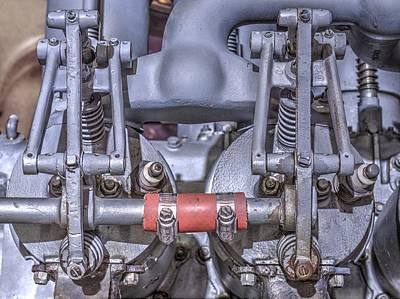 Aircraft Engine Component Photograph - Inline Engine Aeronautics by John Straton